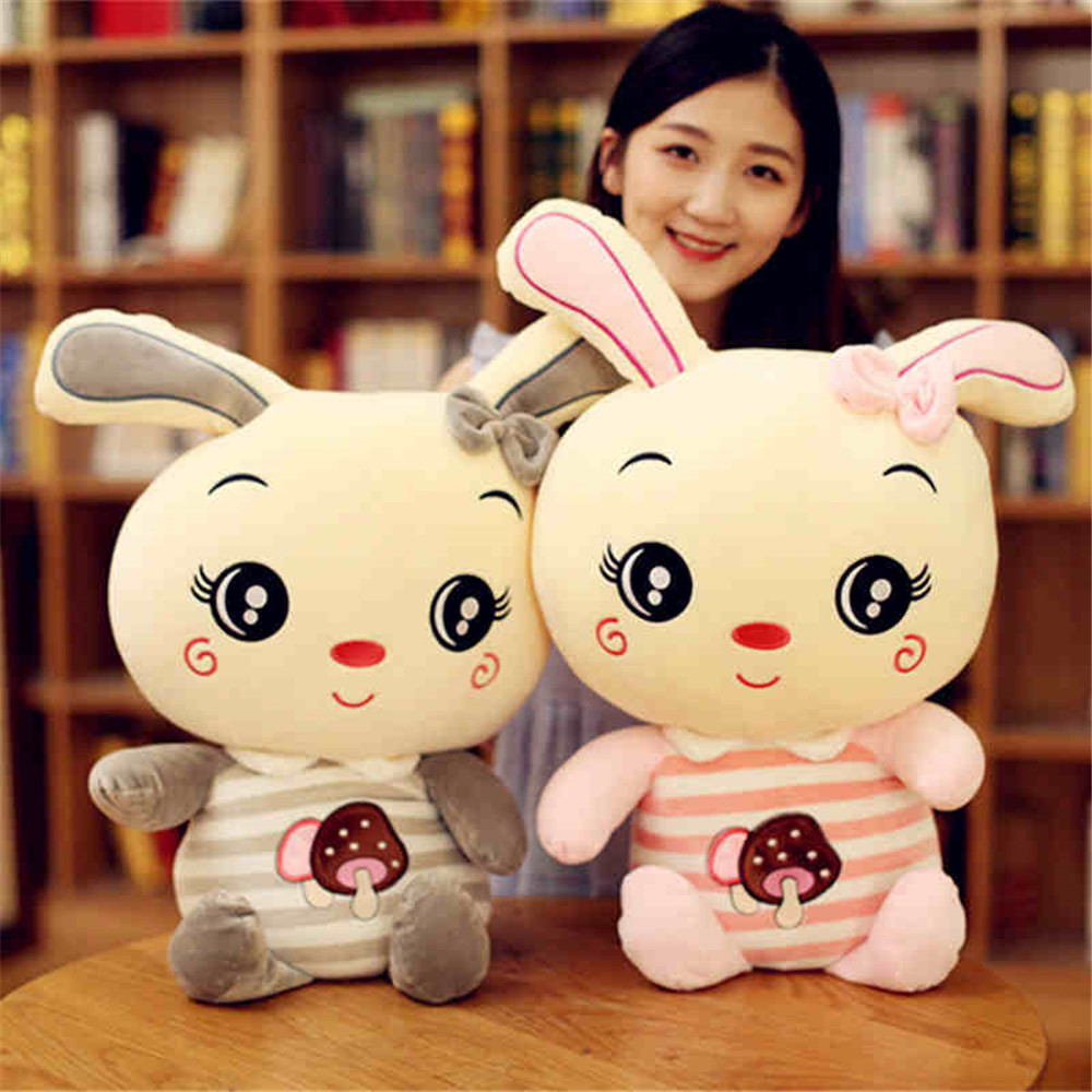 Fancytrader Big Lovely Plush Bunny Toy Soft Stuffed Animals Rabbit Pillow Doll 80cm 31inch for Kids Gifts fancytrader 120cm super lovely jumbo plush shar pei dog toy large dog doll sleeping pillow gift for child free shipping ft50048