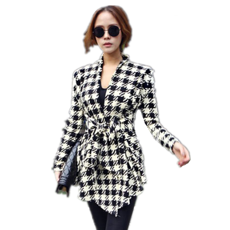 Houndstooth womens coat