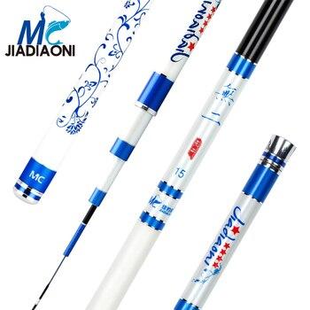 JIADIAONI 28 Tune 5.4-9m Wuer MC Taiwan Fishing Rod Carbon Fiber Hand Pole Fly Fishing Pole Fishing Tackle фото