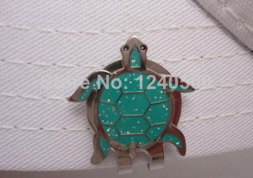 Envío Gratis Sparkling Turtle Pelota de Golf Clip Del Sombrero Marcador Magnétic