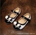 Девушки размер 12 пу искусственной кожи обувь дешевые ботинки школы для девочек белый черный розовый фиолетовый плоским обувь