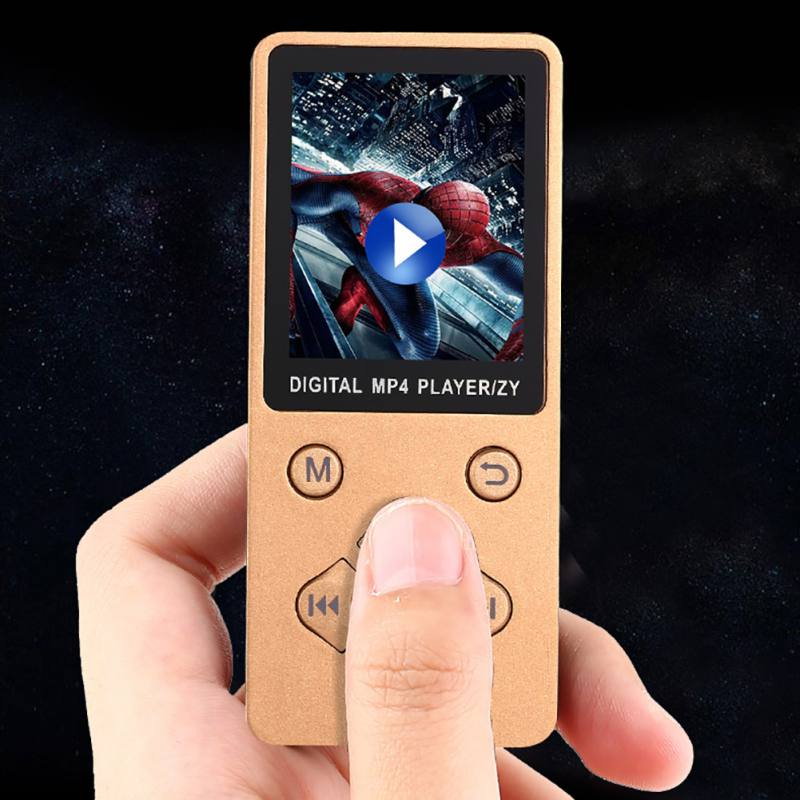 1.8-inch TFT Display Portable MP4 Player Walkman Lossless Recorder FM Radio Video Movie Support TF Card Kid Perfect Gift MP-3