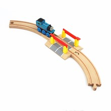 Wooden Train Track Accessories Cross Track Railway Toys Compatible All Track Educational Toys Railway Accessories(China)