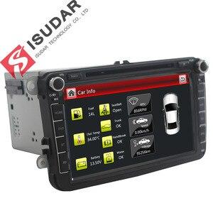 Image 4 - Isudar samochodowy odtwarzacz multimedialny GPS 2 Din Autoradio dla VW/POLO/PASSAT b6/golf 5/Skoda/Octavia/SEAT/LEON radio dvd automotivo DAB