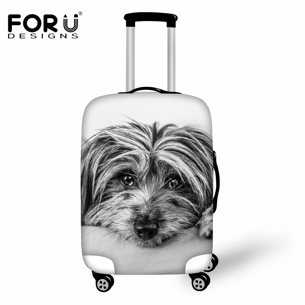FORUDESIGNS Pet Cute Shirley Travel Accessories Luggage Protective Cover for 18-30 Inch Suitcase Waterproof Anti-dust Rain Cover