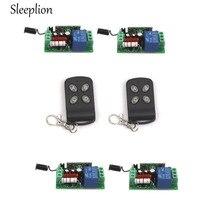 Sleeplion AC 220V 10A 1CH Relay 2 4 key wireless Tech ON OFF Switch Transmitter 4