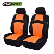 Car-pass Colorful Rainbow 2 front Car Seat Covers & Steering wheel covers safety belt Universal Automobile