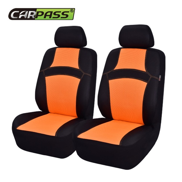 Car Pass Colorful Rainbow 2 Front Seat Covers Steering Wheel Safety