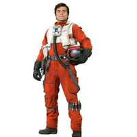 1pcs Newest X Wing Rebel Fighter Pilot Jumpsuit + White Flak Vest Star Wars Cosplay Costumes S XXL