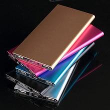 Portátil para Xiaomi Banco do Poder Carregador de Bateria 18650 Poverbank Powerbank Iphone do Telefone Móvel Recarregável 10000 Mah Slim 2 Usb