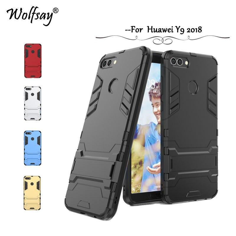 Cover Huawei Y9 Case Y 9 Slim Robot Armor Rubber FOR Phone Case Huawei Y9  Cases Huawei Enjoy 8 Plus FLA-AL00