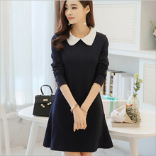 Fall 2017 new spring dress doll long-sleeved dress, backing the a-line  sleeve dress mini dress pattern