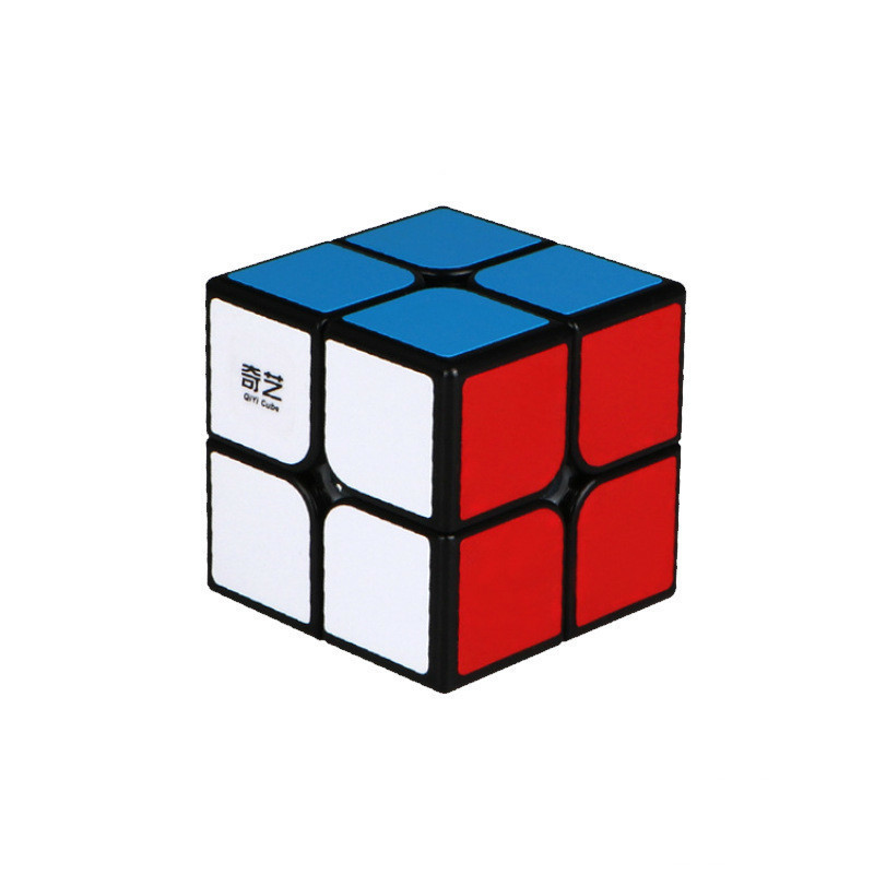 QIYI Art Enlightenment Brand Cube 2X2 Magic Cube 2 By 2 Cube 50mm Pocket Sticker Puzzle Cube Educational Toys For Children