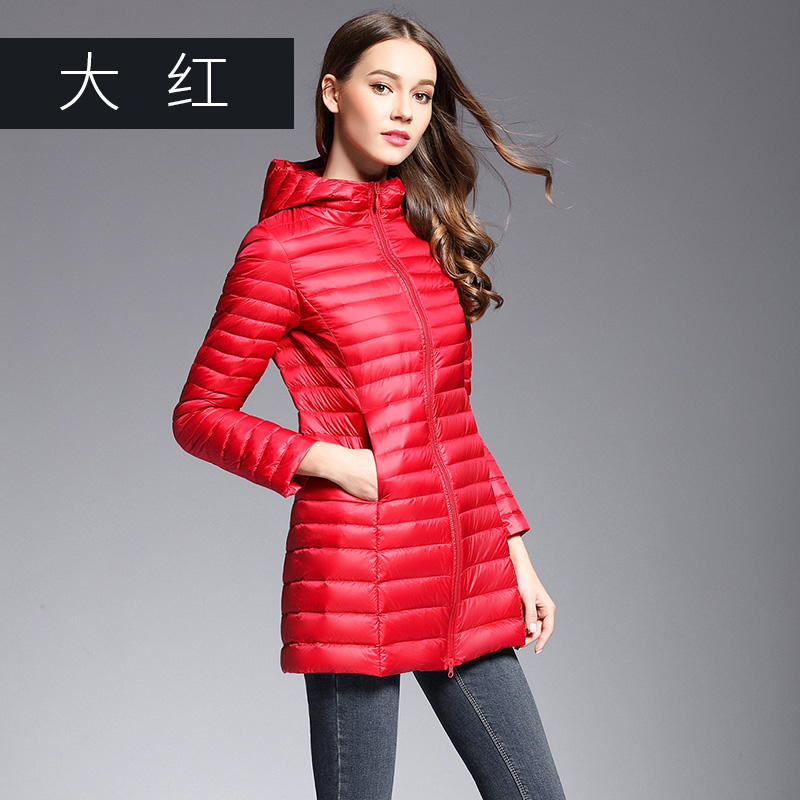 Brand Casual 90% White Duck   Down   Jacket Women Stand Collar Ultra Light Female Autumn Winter Warm Long   Down     Coat   Plus Size Parkas