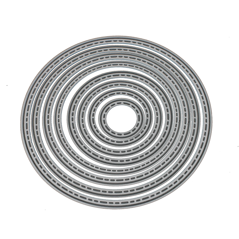 8pc/set Circle Shape <font><b>Sharp</b></font> Metal Cutting Dies For DIY Scrapbooking Photo Decoration Baby <font><b>Puzzle</b></font> Cards Making Embossing Stencil