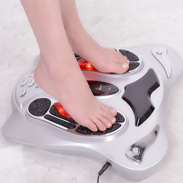 Tourmaline heating Electro foot massager reflexology spa with low frequency pulse Acupuncture Point Muscle Stimulator device