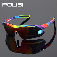 New POLISI Excellent 5 Lens Polarized Bicycle Cycling Glasses Sports MTB Road Bike Glasses Men Driving Travel Sunglasses
