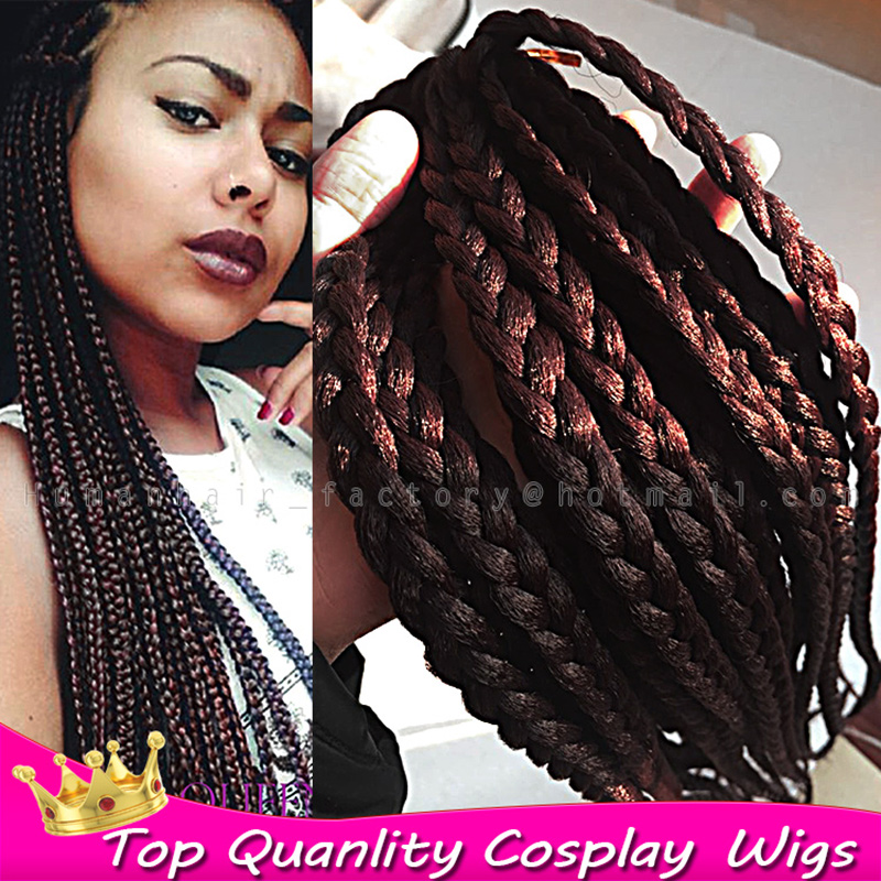 18 6pcs lot hot sale synthetic crochet braids hair fashion xpression braid 99j kanekalon - Crochet braids avec xpression ...