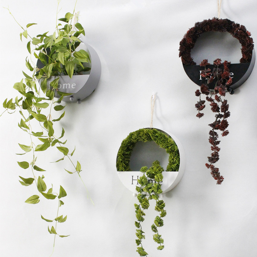 1pc Artificial Succulents Pearls Fleshy Green Vine Flower Hanging Rattan Wall Artificial Flower Lover Tears succulent Plants 40