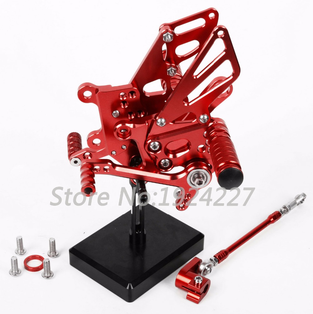 8 Colors For Aprilia RSV4 2009-2016 CNC Adjustable Rearsets Rear Set Motorcycle Footrest Moto Pedal 2010 2011 2012 2013 2014 mad moto high quality motorcycle chain adjuster with paddock bobbin fit for aprilia rsv4 2009 2010 2012 2013 2014 red black