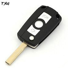 TYUI Replacement Flip Key Shells For BMW 3 5 Series Remote Modified Key Fobs With Logo HU92 Blade
