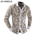Autumn New Cotton Fashion Print Long sleeve Shirts Men Brand Casual Men Dress Shirt Camisa Masculina Slim fit Shirt Male Clothes