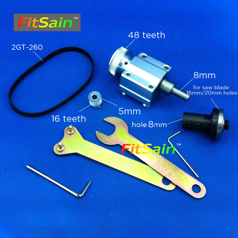 FitSain-Mini table saw for motor shaft 5mm 4 100mm saw blade hole 16mm/20mm 2GT Belt spindle Cutting saws Machine Pulley no 1 twist plaster saws jewelry spiral teeth saw blades cutting blade for saw bow eight kinds of sizes 144 pcs bag