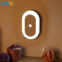 LMID 1W Night Light With Motion Sensor Light (Use for 3pcs AA Battery) Intelligent Body Induction Lamps Wireless Wall Table Lamp
