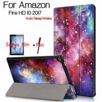 Magnetic Stand Smart PU Leather Case For Amazon Kindle Fire HD 10 2017 10 1 Tablet