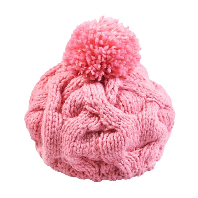 2017 Fashion Women Hats Caps Winter Skullies Beanies Bone Touca Warm Twist Knitted Hat Solid Color Beanies Women Hat Cap B064 skullies