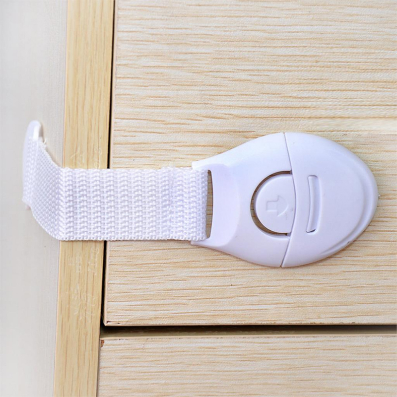 10PCS/Lot Baby Care Safety Security Cabinet Locks Straps Products For Cabinet Drawer Wardrobe Doors Fridge Toilet Child Lock Set