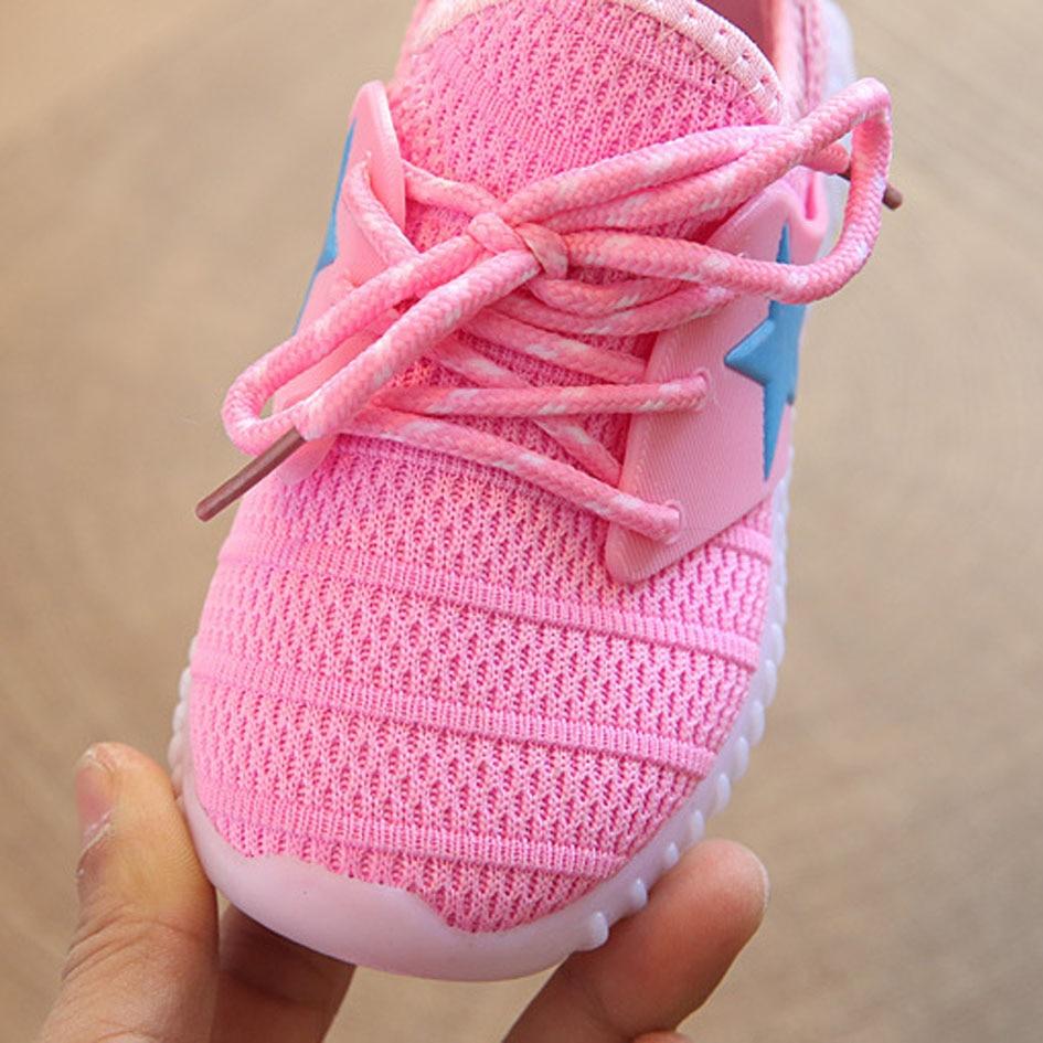 Kittin 2017 Neue Air Mesh Kinder Fashion Sneakers Mit Beleuchtung ...