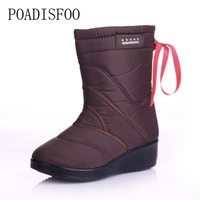 POADISFOO 2017 New Fashion Warm Platform Snow Boots Casual Shoes Size Is A Small Size X
