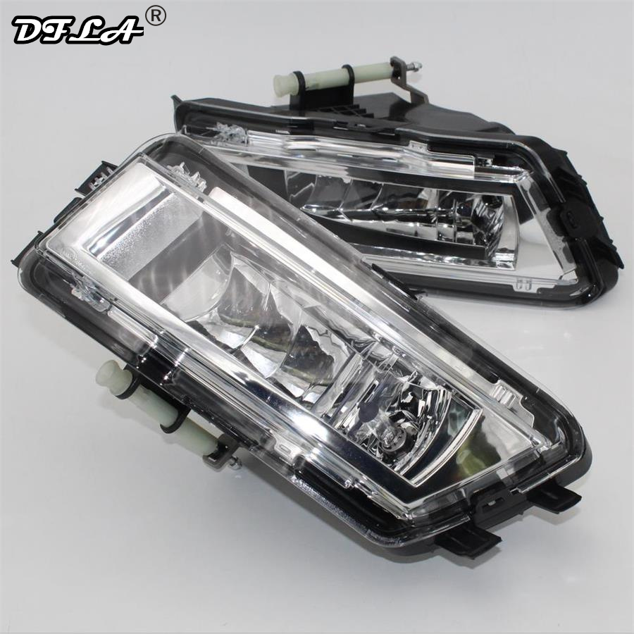 2pcs Car Light For VW Passat NMS B7 North America Version 2012 2013 2014 2015 Car-styling Front Halogen Fog Light Fog Lamp right side for vw polo vento derby 2014 2015 2016 2017 front halogen fog light fog lamp assembly two holes