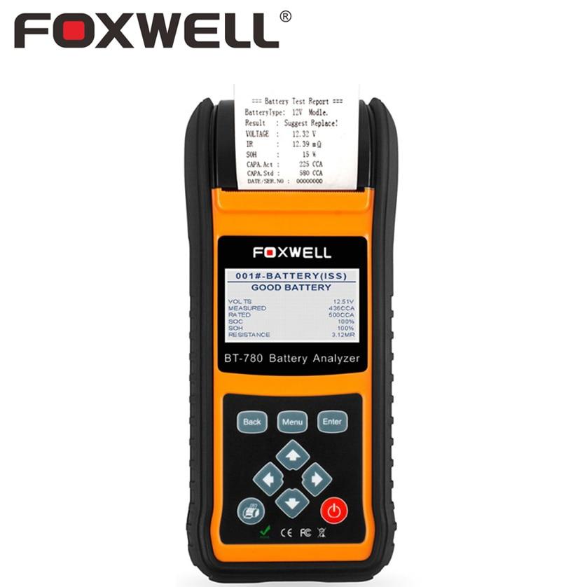 FOXWELL BT780 12V 24V Car AGM GEL font b Battery b font Tester Analyzer With Printer
