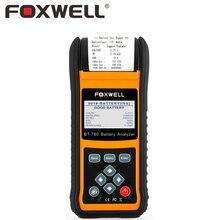 Foxwell bt780 12 В 24 В автомобиля AGM гель Батарея тестер анализатор с принтером измерения внутреннего сопротивления начиная зарядки Системы