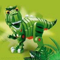Dinosaur Skeleton Building DIY Toy Skull 3D Model Funny Kids Puzzle Toy Gift Educational Toy