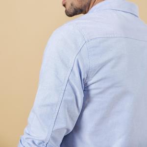 Image 5 - SIMWOOD Autumn winter Men Shirts New 2020 Fashion 100% Pure Cotton basic Slim Fit Plus Size Brushed Oxford Shirts  180569