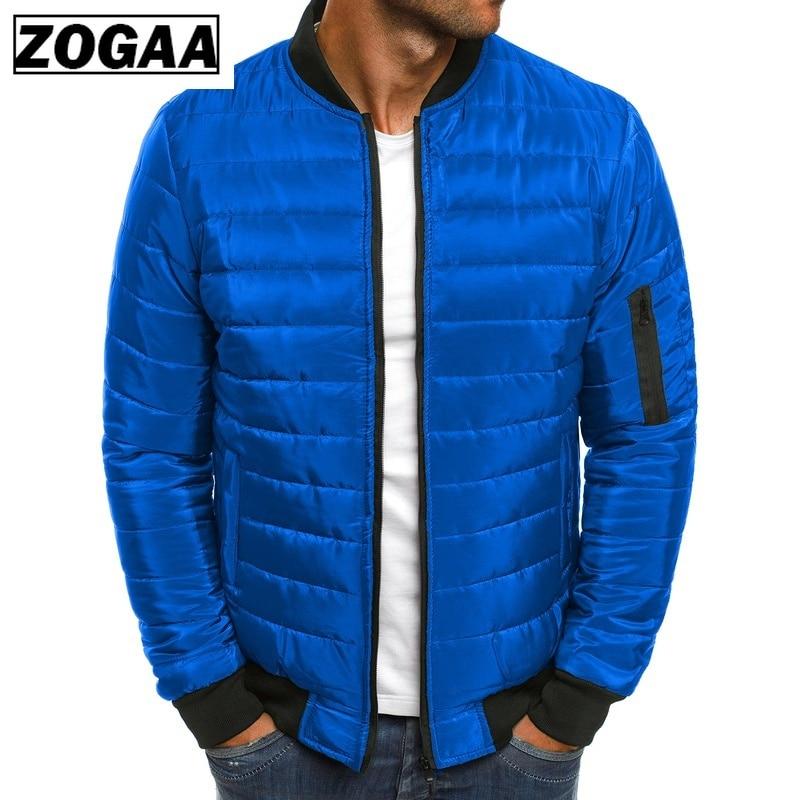 High Quality Mens Winter Solid Parka Warm Jackets Simple Hem Practical Waterproof Zipper Pocket Stand Collar Jacket