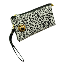 Wholesale10*Fashion Women Wallets PU Leather Lady Zipper Hasp Coin Purse Money Bags Handbags Woman Wallet Bag White leopard