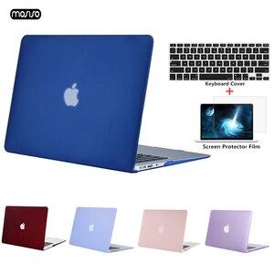Image 1 - MOSISO Новый матовый чехол для ноутбука Macbook Air 13 дюймов модель A1466 A1369 чехол для Mac Book New Air 13 A1932 с сенсорным ID 2018