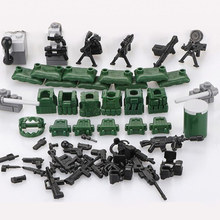 (6pcs/set) Baby DIY Self-Locking Bricks Military Series Blocks Sets ABS Plastic Army children Kids Toys Models & Building Toy