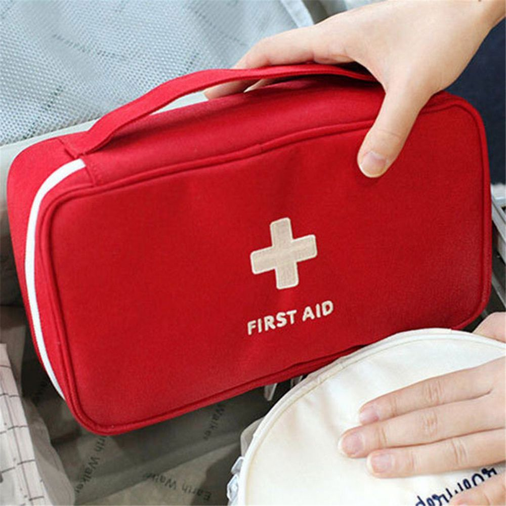 Portable Empty Household Multi-Layer Rescue First Aid Bag Kit Pouch Outdoor Car Bag Survival Medicine Travel Bag Accessories