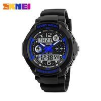 SKMEI Brand Children Sports Watches 50m Waterproof Fashion Casual Quartz Digital Watch Boys Girl LED Multifunction