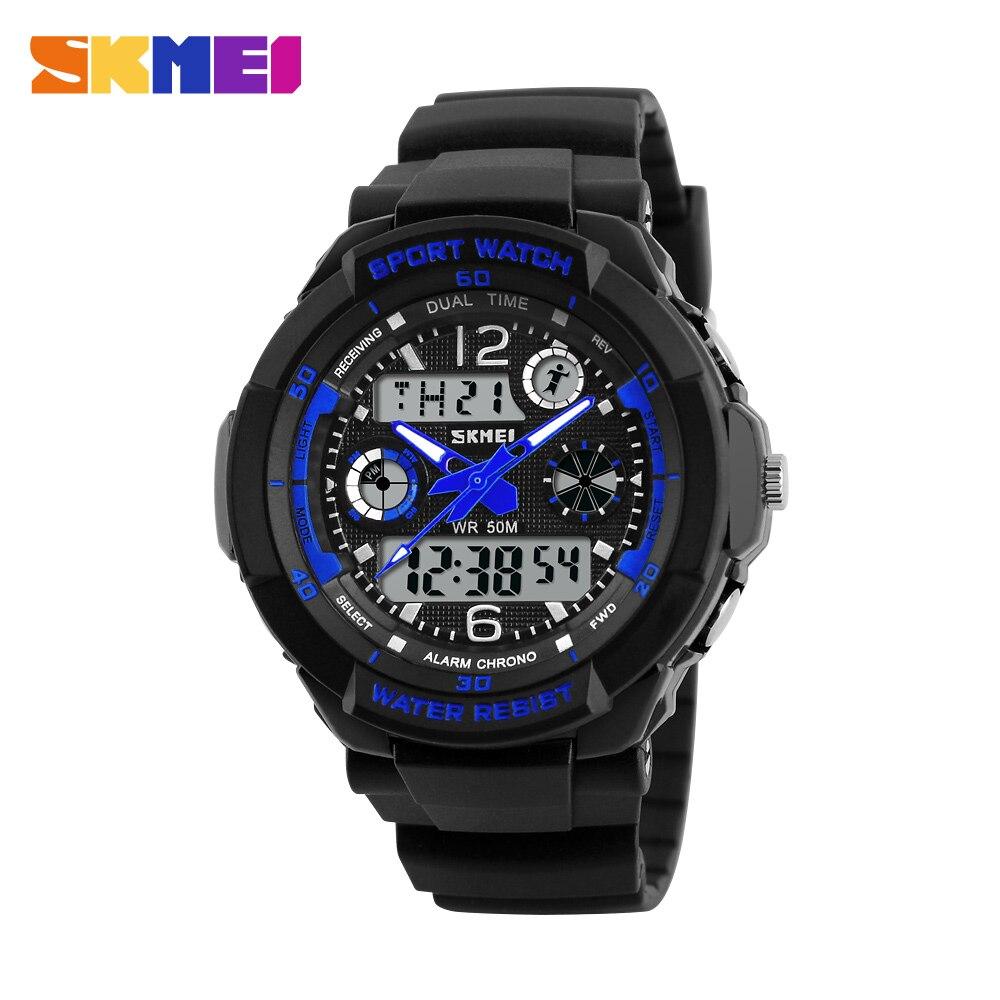 Skmei marca niños Relojes deportivos 50 m impermeable moda casual reloj de cuarzo digital Niños chica LED multifunción de pulsera Relojes