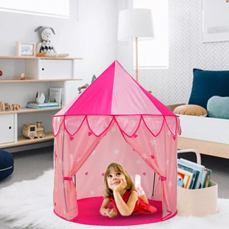 Kids Gril Princess House Large Tent Toys Indoor Outdoor Toy Infant Baby Folding Playing Game Castle Tipi Playing Cubby tipi Gift