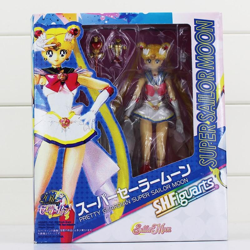 font b Anime b font Sailor Moon Sailor Tamashi Nations Action Figure With Box 15cm