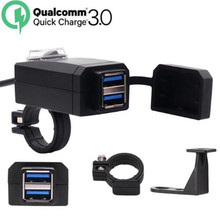 WUPP QC3.0 USB Motorcycle Charger Moto equipment Dual Quick Change 12V Power Supply Adapter