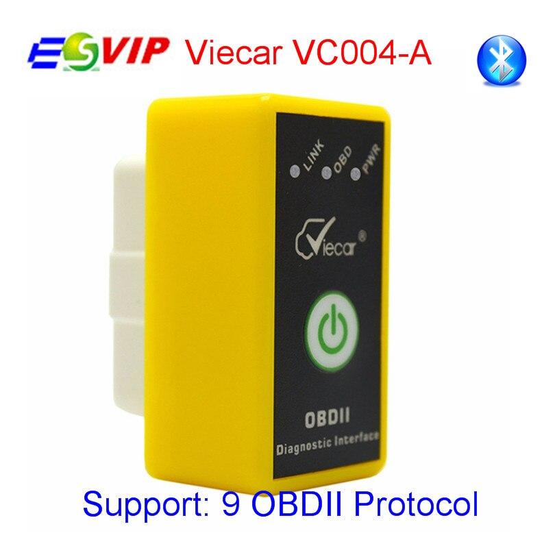 Neue viecar elm327 v1.5/2,1 mit schalter bluetooth 2,0 obd scan ulme 327 codeleser obdii diagnosescan-werkzeug vc004-a/vc004-b