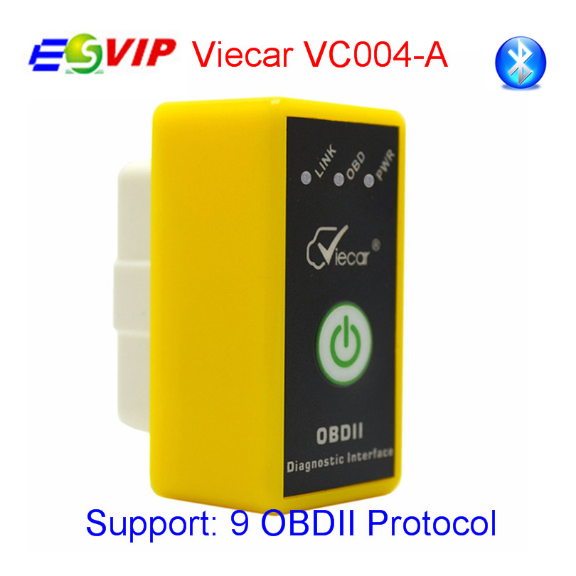 Prix pour Nouveau Viecar Elm327 V1.5/2.1 avec interrupteur Bluetooth 2.0 D'ANALYSE OBD elm 327 code lecteur OBDII Diagnostic scan VC004-A/VC004-B